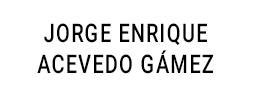 JORGE ENRIQUE ACEVEDO GÁMEZ
